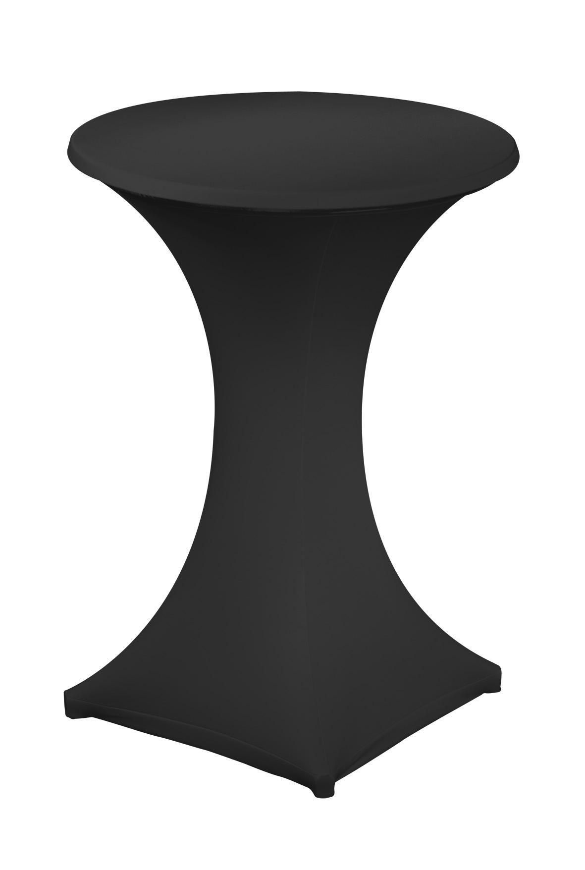 Stehtischhusse, schwarz
