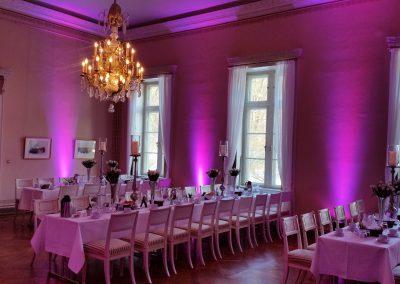 Lichtinstallation Hochzeit Lichtdekoration